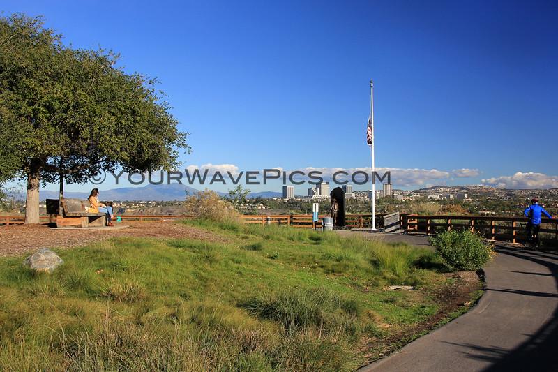 2018-12-07_Back Bay_Castaways_6.JPG<br /> <br /> View of Fashion Island and Newport Back Bay from Castaways Park