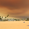 2018-08-09_Wedge_Holy Fire smoke_17.JPG<br /> Smoke from a raging fire in Holy Jim Canyon brought color to the skies all over Orange County