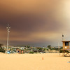 2018-08-09_Wedge_Holy Fire smoke_10.JPG<br /> Smoke from a raging fire in Holy Jim Canyon brought color to the skies all over Orange County