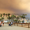 2018-08-09_Balboa Pier_Holy Fire smoke_2.JPG<br /> Smoke from a raging fire in Holy Jim Canyon brought color to the skies all over Orange County