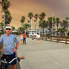2018-08-09_Balboa Pier_Holy Fire smoke_Tony.JPG<br /> Smoke from a raging fire in Holy Jim Canyon brought color to the skies all over Orange County