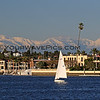 2019-02-06_Balboa_Buena Vista Snow_28.JPG<br /> <br /> A rare day with snow-covered mountains behind Newport Harbor, viewed from Buena Vista Dr.