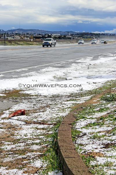 2015-03-02_9509_Magnolia St.JPG<br /> <br /> Hail on Pacific Coast Highway at Magnolia St. 3/2/15