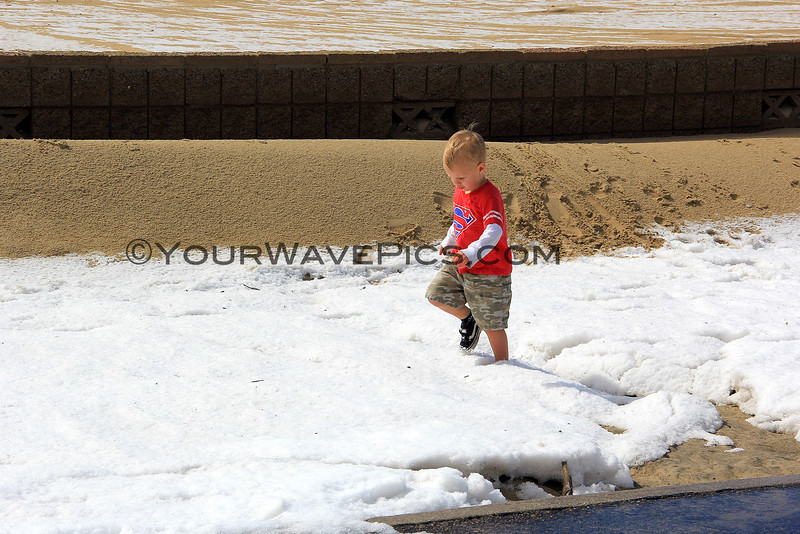 2015-03-02_9516_Magnolia St.JPG<br /> <br /> Hail at Huntington State Beach becomes a snowy playground 3/2/15
