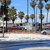 2015-03-02_9521_Huntington St.JPG<br /> <br /> Campers at Huntington Beach got a surprise to find snow on the beach 3/2/15