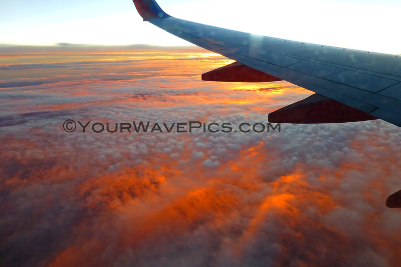 2018-11-15_Cabo Flight Sunset_4.JPG<br /> As we flew home from Cabo, I can only imagine what this sunset must have looked like from the ground, somewhere around the middle of Baja.  With wildfires raging in California, the smoke had blown a significant way down the Baja California peninsula, causing a fiery red sky.