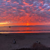 2019-12-29_HB Cliffs Sunset_1 Ed.JPG<br /> Boy, did I misjudge this sunset!  When I got to the Cliffs, it didn't look like this one was going to pop so I jumped on my bike and rode towards Bolsa Chica.  Suddenly the sky exploded in red so I rode my bike as fast as I could back to my car to get my camera!  Luckily I stopped and snapped this shot from my phone, as it was pretty much over by the time I got to my car and grabbed my camera.