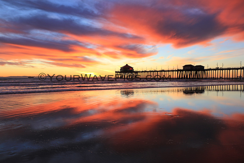 2020-12-30_HB Pier Sunset_26.JPG <br /> Low tide reflections at their finest!