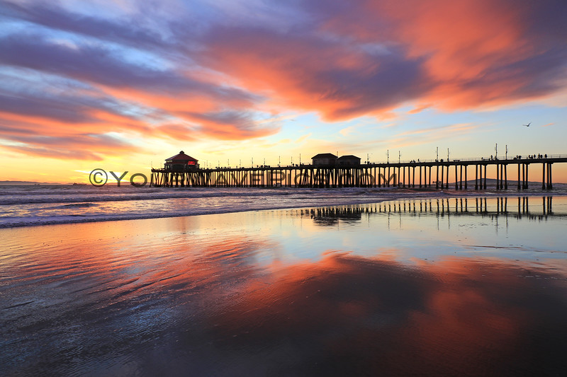 2020-12-30_HB Pier Sunset_15.JPG <br /> Low tide reflections at their finest!