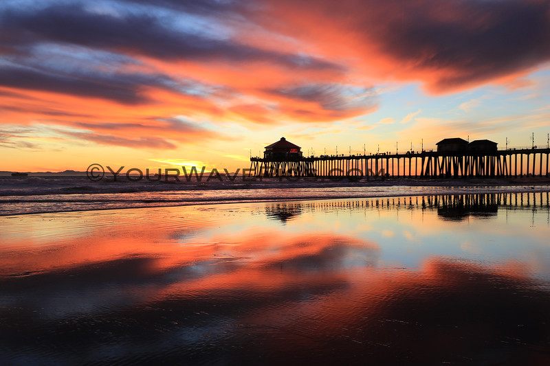 2020-12-30_HB Pier Sunset_24.JPG <br /> Low tide reflections at their finest!