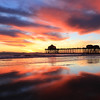 2020-12-30_HB Pier Sunset_30.JPG <br /> Low tide reflections at their finest!