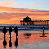 2021-01-12_HB Pier Sunset_3 Girls_31.JPG <br /> King Tides brought a negative low tide in the afternoon for spectacular reflections!