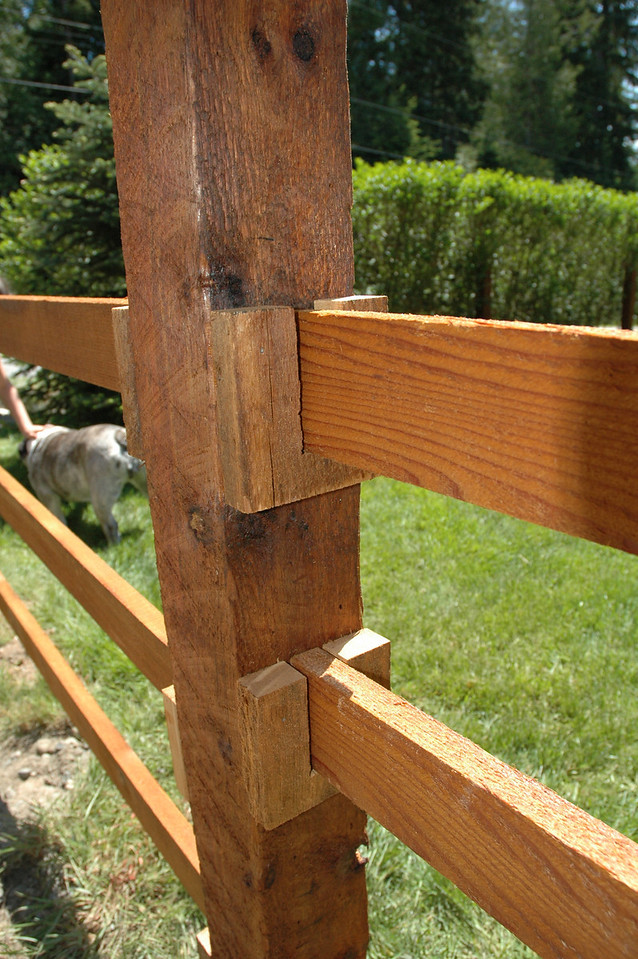 Good joinery makes good fencing.
