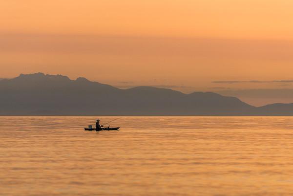 Fishing in Davis Bay