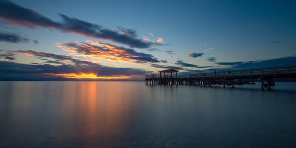 Davis Bay Pier Sunset