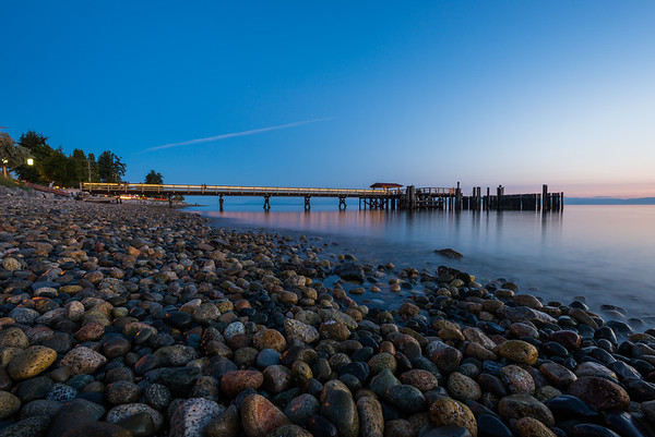 Blue Hour at Davis Bay Pier