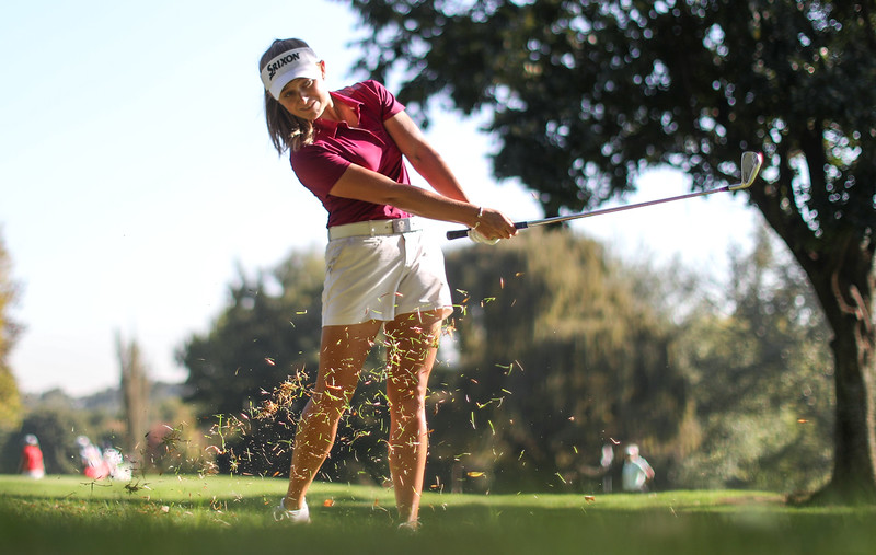 Caitlyn Macnab during round three of the Jabra Ladies Classic at Glendower Golf Club in Johannesburg, South Africa.   Image by: Petri Oeschger