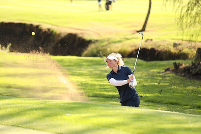Emie Peronnin during round one of the Jabra Ladies Classic at Glendower Golf Club in Johannesburg, South Africa.   Image by: Petri Oeschger
