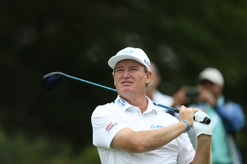 LEOPARD CREEK, SOUTH AFRICA - DECEMBER 11: Ernie Els during the Pro-Am of the Alfred Dunhill Championship held at Leopard Creek Golf Estate on December 1, 2018 in Leopard Creek, South Africa. EDITOR'S NOTE: For free editorial use. Not available for sale. No commercial usage. (Photo by Carl Fourie/Sunshine Tour)