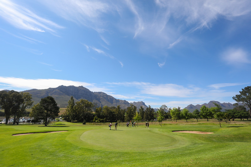 STELLENBOSCH, SOUTH AFRICA - OCTOBER 2: Hole 9 during the held at Stellenbosch Golf Club on October 2, 2018 in Stellenbosch, South Africa. EDITOR'S NOTE: For free editorial use. Not available for sale. No commercial usage. (Photo by Carl Fourie/Sunshine Tour)