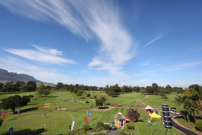 STELLENBOSCH, SOUTH AFRICA - OCTOBER 2: Hole 18 during the held at Stellenbosch Golf Club on October 2, 2018 in Stellenbosch, South Africa. EDITOR'S NOTE: For free editorial use. Not available for sale. No commercial usage. (Photo by Carl Fourie/Sunshine Tour)