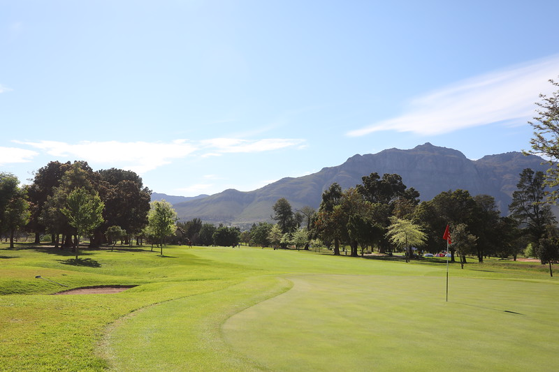 STELLENBOSCH, SOUTH AFRICA - OCTOBER 2: Hole 2 during the held at Stellenbosch Golf Club on October 2, 2018 in Stellenbosch, South Africa. EDITOR'S NOTE: For free editorial use. Not available for sale. No commercial usage. (Photo by Carl Fourie/Sunshine Tour)
