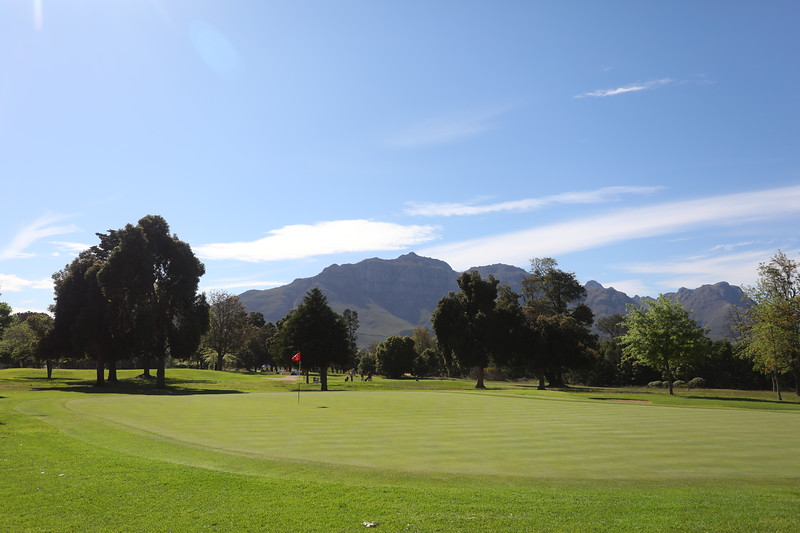 STELLENBOSCH, SOUTH AFRICA - OCTOBER 2: Hole 4 during the held at Stellenbosch Golf Club on October 2, 2018 in Stellenbosch, South Africa. EDITOR'S NOTE: For free editorial use. Not available for sale. No commercial usage. (Photo by Carl Fourie/Sunshine Tour)