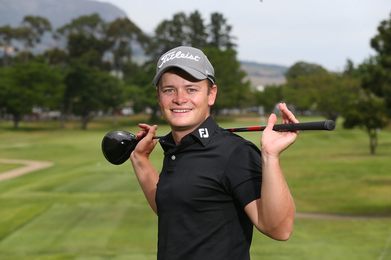STELLENBOSCH, SOUTH AFRICA - OCTOBER 2: Ruan Conradie during the held at Stellenbosch Golf Club on October 2, 2018 in Stellenbosch, South Africa. EDITOR'S NOTE: For free editorial use. Not available for sale. No commercial usage. (Photo by Carl Fourie/Sunshine Tour)