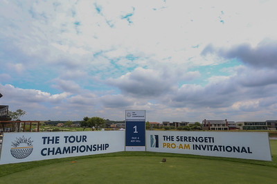 JOHANNESBURG, SOUTH AFRICA - FEBRUARY 19: Hole 1 during preview day of the 2020 Tour Championship at Serengeti Estates on February 19, 2020 in Johannesburg, South Africa. (Photo by Carl Fourie/Sunshine Tour)