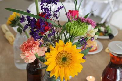 Flower Display on table