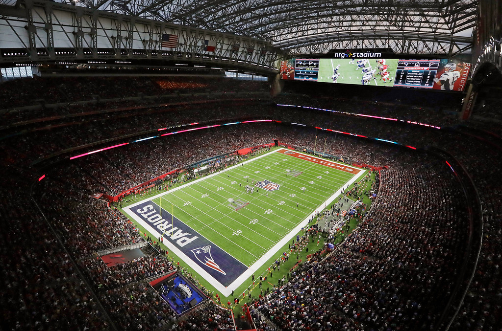 . The Atlanta Falcons play the New England Patriots during the first half of the NFL Super Bowl 51 football game Sunday, Feb. 5, 2017, in Houston. (AP Photo/Morry Gash)