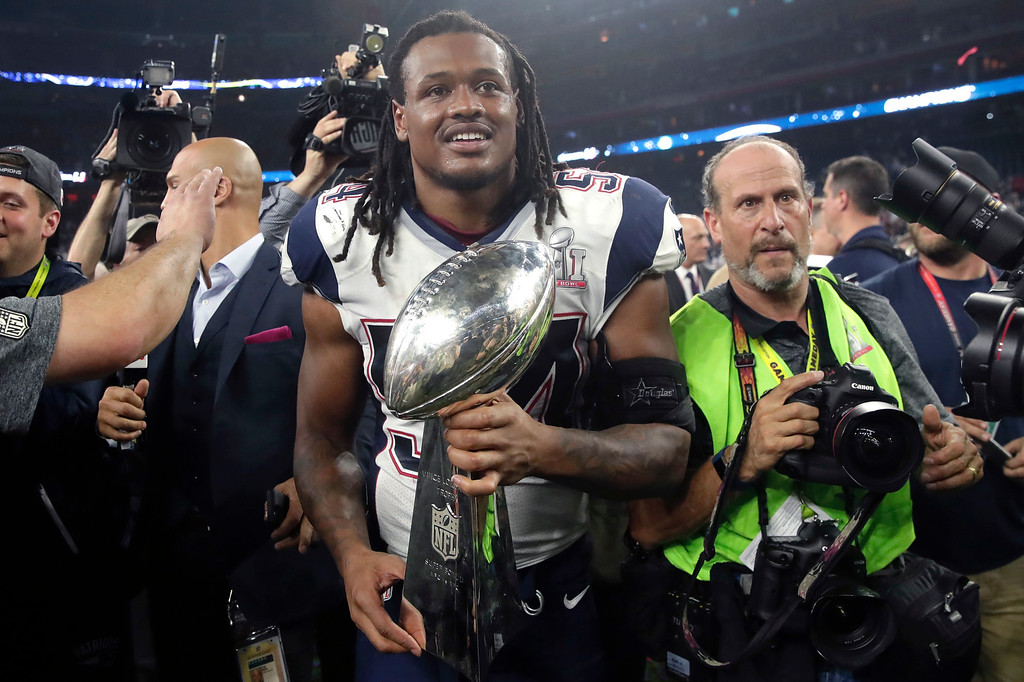 . New England Patriots\' Dont\'a Hightower holds the Vince Lombardi Trophy after the NFL Super Bowl 51 football game against the Atlanta Falcons Sunday, Feb. 5, 2017, in Houston. The Patriots won 34-28. (AP Photo/Patrick Semansky)