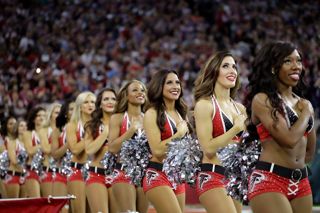 . Atlanta Falcons cheerleaders during the first half of the NFL Super Bowl 51 football game against the New England Patriots, Sunday, Feb. 5, 2017, in Houston. (AP Photo/Eric Gay)