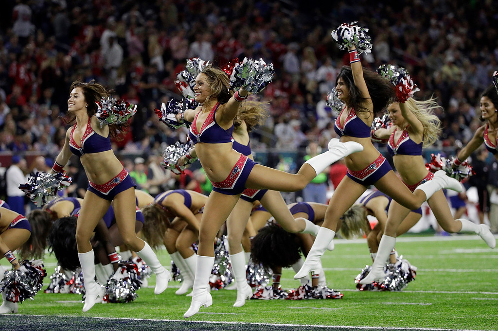 . New England Patriots cheerleaders perform during the first half of the NFL Super Bowl 51 football game between the Atlanta Falcons and the New England Patriots Sunday, Feb. 5, 2017, in Houston. (AP Photo/Jae C. Hong)