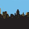 21536038 - retro classic comics style city skyline