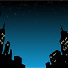 21536037 - graphic style cartoon night city skyline background