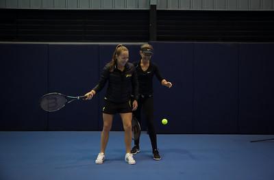 Athletes play Tennis