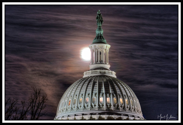 Capitol and Super Moon