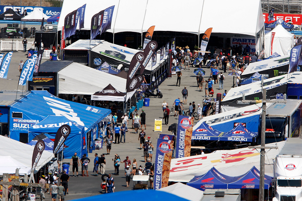 . Overlooking the paddock area during a practice session at the FIM Superbike World Championship at Mazda Raceway Laguna Seca on Saturday, July 8, 2017.  (Vern Fisher - Monterey Herald)