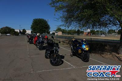 Garden of motorcycles