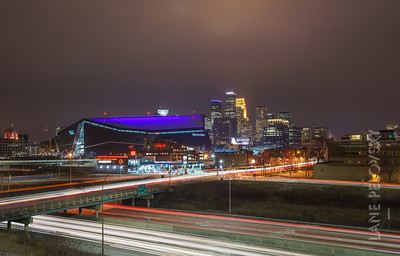 Minneapolis - US Bank Stadium and the Skyline
