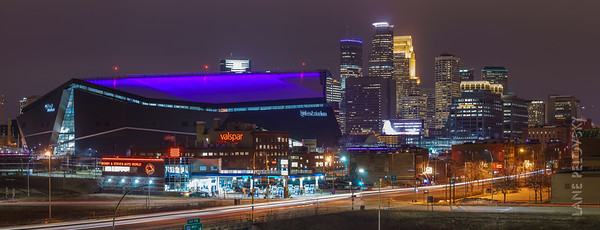 Minneapolis - US Bank Stadium and the Skyline Pano