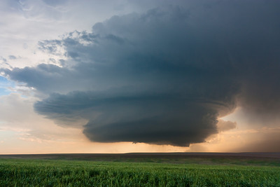 An incredible supercell exhibits classic structure near Dear Trail, CO, on June 10, 2010.