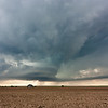 A beautiful supercell moves gracefully over the parched landscape northeast of Denver International Airport on June 10, 2010.