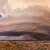 """This is what storm chasers refer to as """"Panhandle Magic!"""" The setting sun on October 11, 2011, enhances an already jaw-dropping supercell scene near Alanreed, TX."""