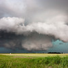 A typical HP supercell with strong outflow and an extensive precipitation core near Alva, OK, on June 8, 2008.