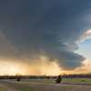 An anticyclonic LP supercell begins to shrivel up near Fletcher, OK, on March 30, 2013.
