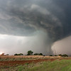 A downburst emenates from an HP supercell near Henrietta, TX, on April 22, 2011.