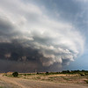 A nasty HP supercell approaches Shattuck, OK, at sunset on June 11, 2011.