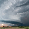 A long-lived supercell finally begins to weaken as capping increases at sunset near Longton, KS, on May 10, 2014.